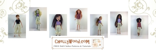 Click here to find the pattern and tutorial for making these bloomers (pantaloons): http: https://chellywood.com/2017/01/26/free-dolls-pantaloons-sewing-pattern-and-tutorial-chellywood-com/
