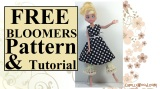 Free #dolls' pantaloons #sewing pattern and #tutorial @ ChellyWood.com