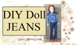 #DIY elastic waist pants for #dolls w/free pattern @ ChellyWood.com