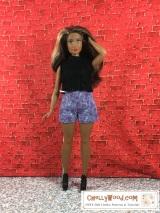 Mix-N-Match 2: #dolls' shirt-N-shorts FREE patterns fit #CurvyBarbie @ ChellyWood.com#Barbie
