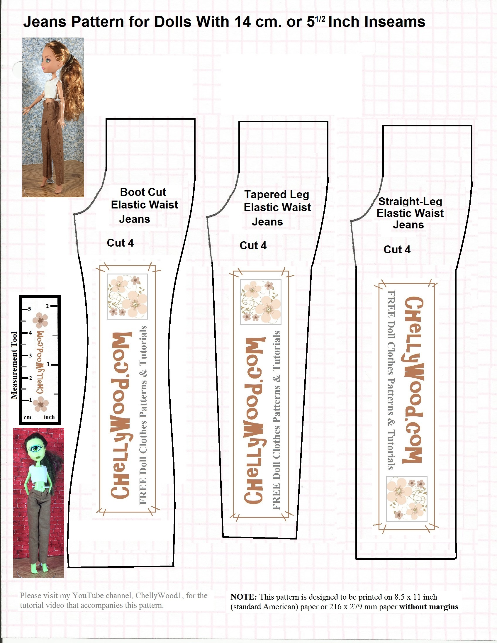 picture relating to Printable Pajama Pants Pattern referred to as Absolutely free #Sewing #Models for #MonsterHigh Doll Outfits (Trousers