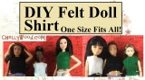 #Felt #dolls' shirt is super easy to #sew w/FREE pattern @ ChellyWood.com