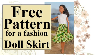 Click on the following link for all the patterns and tutorials you need to make the skirt and top shown: https://chellywood.com/2018/03/06/free-craft-patterns-for-stpatricksday-dolls-chellywood-com/