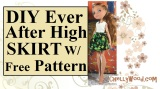 Lovely #green #DollClothes tutorials w/ free patterns @ ChellyWood.com #StPatricksDayParade