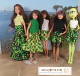 FREE #StPatricksDay #Dolls Clothes Patterns @ ChellyWood.com