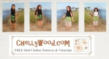 Sew a MiniSkirt with #Tulle for #FashionDolls w/FREE Pattern
