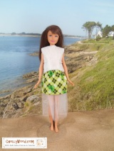 Sew a shirt and fancy skirt for your teen #dolls (like #Skipper) @ ChellyWood.com