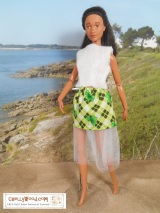 A #child could make this EASY #Sewing project: #Barbie skirt and top @ChellyWood.com
