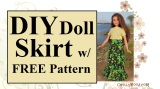 #DIY skirt for Curvy #Barbie® w/ free pattern @ ChellyWood.com #Dolls