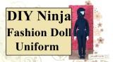 Sew your own #DIY fashion #Dolls' #NinjaWarrior uniform w/free pattern @ChellyWood.com