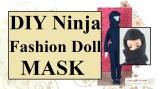 #Sew a ninja's #Mask for #FashionDolls w/ free pattern atChellyWood.com