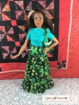 FREE #patterns for making #CurvyBarbie outfit @ ChellyWood.com #thedollevolves