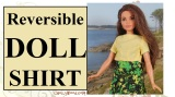 Sew a reversible shirt for #FashionDolls w/ free pattern @ ChellyWood.com #doll #crafts