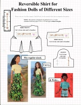 Reversible Shirt FREE Pattern Fits #Barbie®, #CurvyBarbie® and Similar Fashion #Dolls