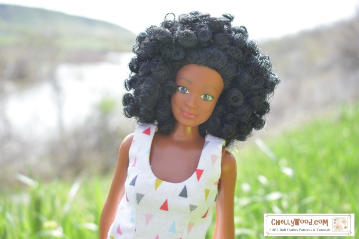 "Image shows Lammily LLC's ""Photographer"" doll posing for a photograph above the Snake River in Idaho."
