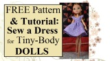 FREE pattern and tutorial for MH or EAH #dolls' #springtime dress @ ChellyWood.com