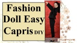 #Sew a pair of #CapriPants for #Dolls w/tutorial@ChellyWood.com