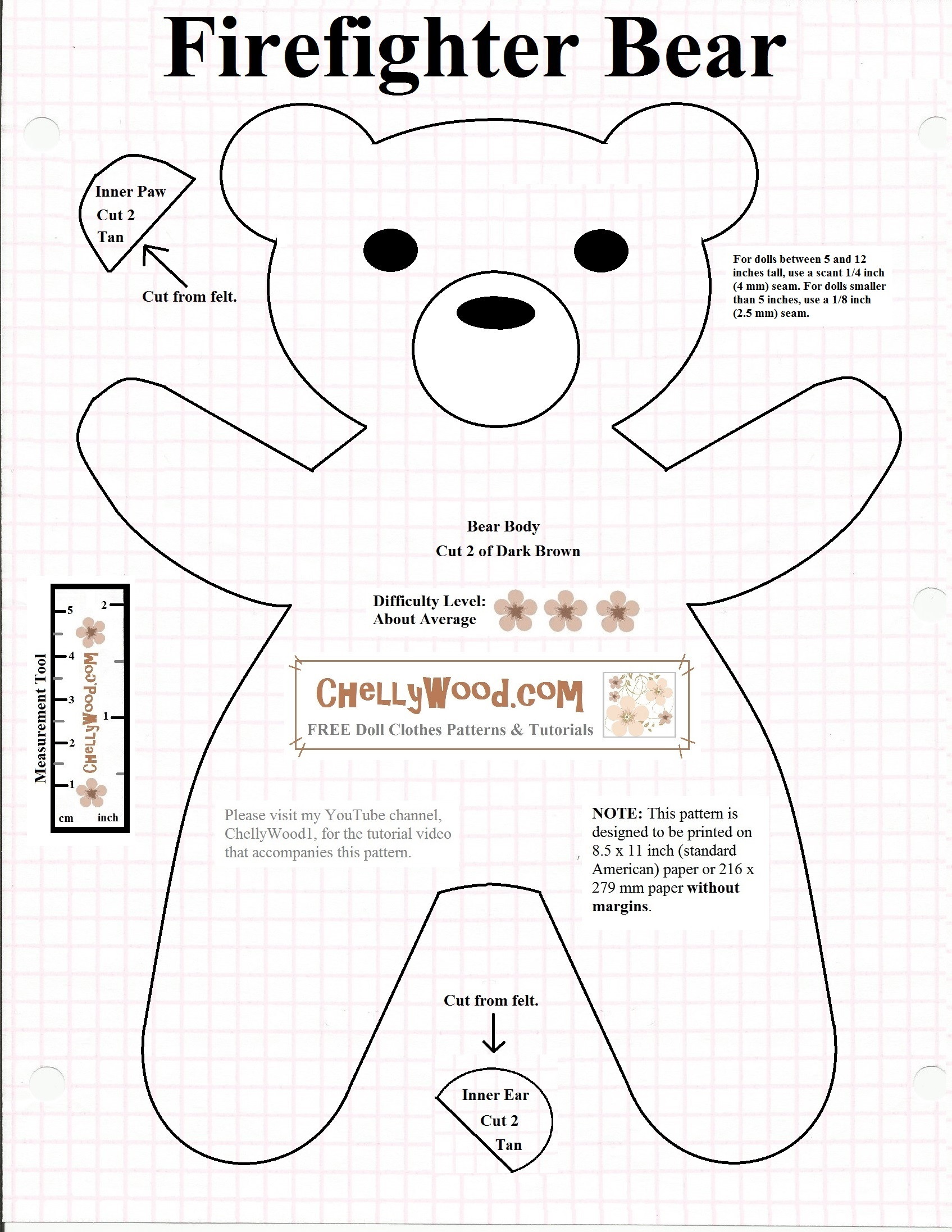 image regarding Free Printable Teddy Bear Patterns called Teddy Undertake Cost-free Doll Clothing Behaviors