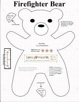 Free printable #SmokeyBear or #TeddyBear #sewing pattern @ChellyWood.com