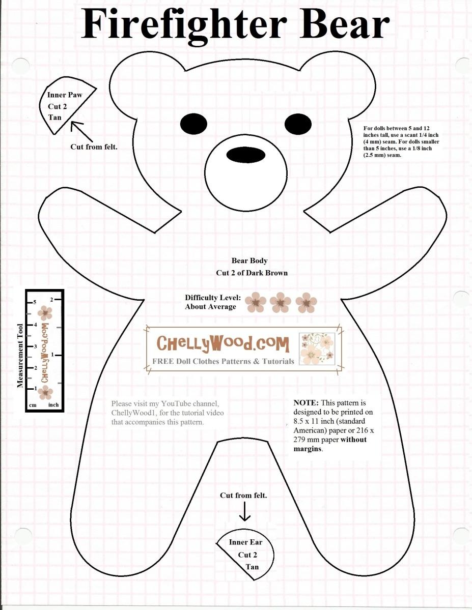 Teddy Bear Tutorial and Pattern ~ DIY Tutorial Ideas! |Teddy Bear Template
