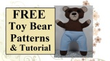 FREE #FireFighter bear #patterns @ ChellyWood.com show our support for #FireFighters