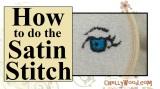Satin #Stitch for #Embroidery #Crafts @ ChellyWood.com