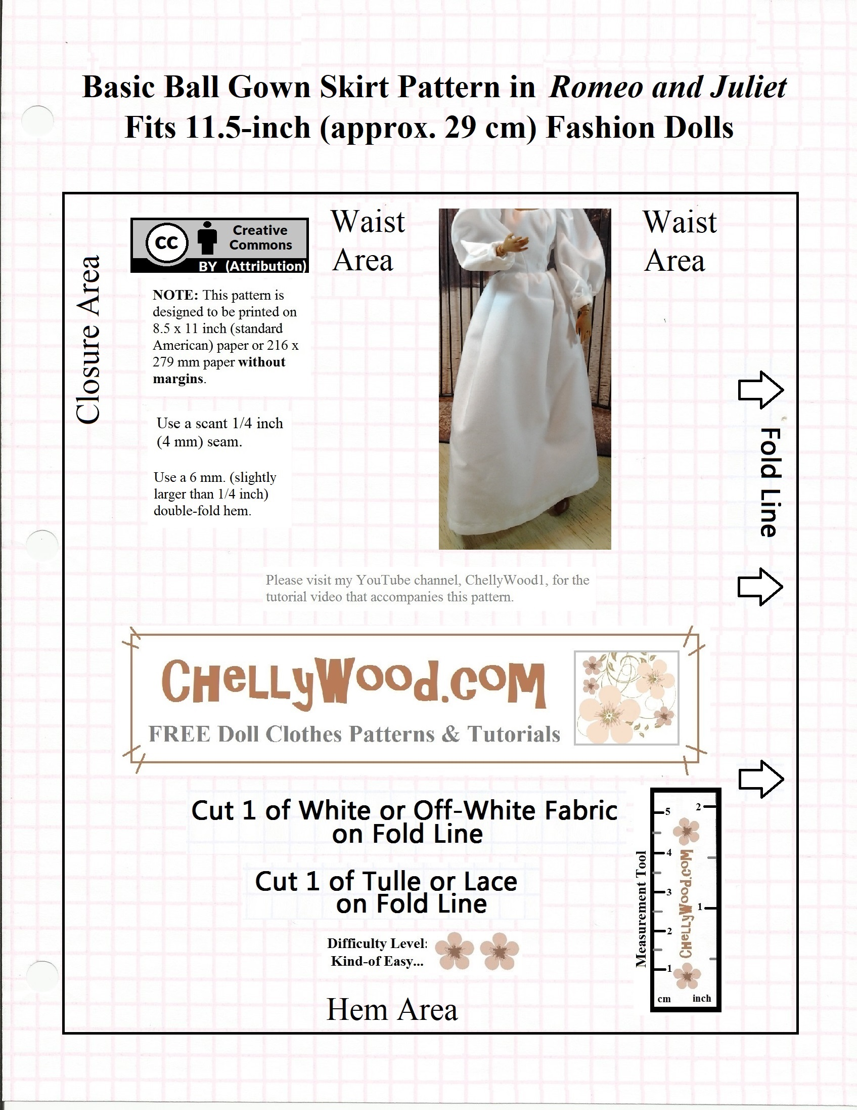 Dolls #princess gown #patterns are free @ ChellyWood.com | Chelly Wood