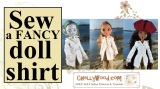 Sew a #fancy #doll shirt #DIY tutorial @ ChellyWood.com
