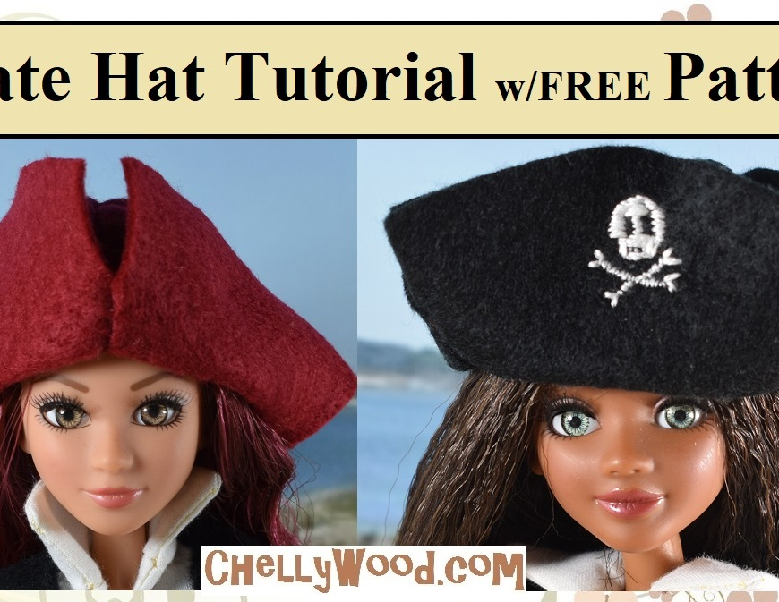 FREE Printable Pirate Hat Template at ChellyWood.com
