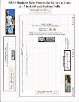 16-inch or 17-inch Fashion #Doll Skirt #Sewing Pattern (FREE) @ChellyWood.com