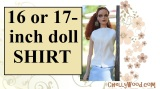 Sew a summer shirt for 16-inch or 17-inch #Dolls w/FREE #patterns @ChellyWood.com
