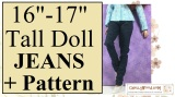 #Sew a pair of jeans for tall #Dolls w/ChellyWood.com's free #patterns
