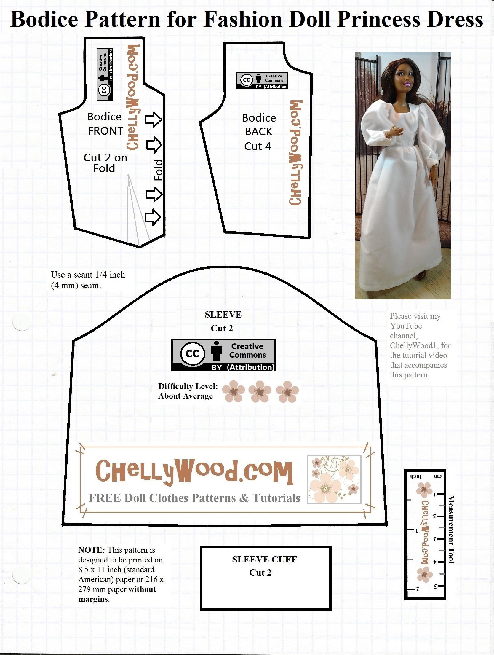 Fashion doll sewing patterns free 71