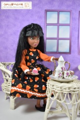 FREE #Halloween dress pattern for #LivDolls and other 11″ #Dolls @ChellyWood.com