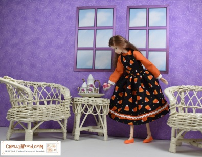 Click here for a link to the FREE printable sewing pattern and tutorial for making the doll dress shown above: http://wp.me/p1LmCj-FwU