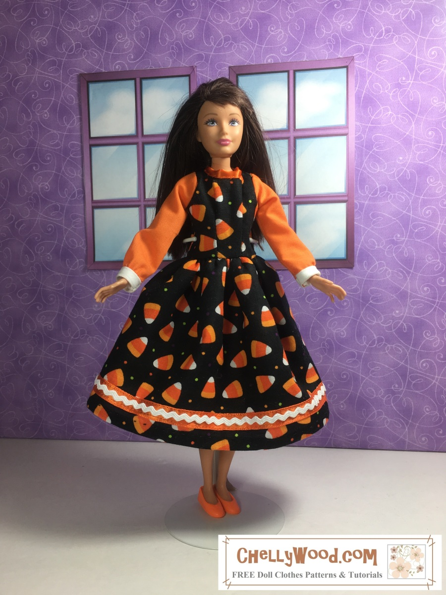 Sew a #dollDress for #Skipper or other 10″ #dolls w/FREE ...