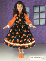#HalloweenCandy #Dolls Dress #Pattern is FREE @ ChellyWood.com