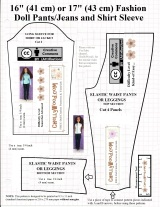 FREE Printable #Sewing #Patterns for #Dolls Jeans @ ChellyWood.com
