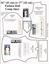 16-inch or 17-inch #dolls' camp shirt #patterns revisited @ ChellyWood.com