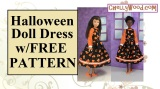 #Sew a pretty #Halloween dress for #dolls w/FREE pattern @ ChellyWood.com