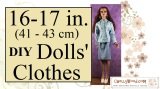 #Sewing #Tutorial w/FREE Patterns for #Dolls' Clothes @ ChellyWood.com