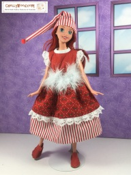 Click here for all the patterns and tutorials you'll need to create this outfit: https://chellywood.com/2017/12/25/free-holiday-sewing-patterns-for-disney-princess-dolls-chellywood-com/