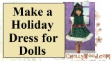 #Skipper, #Momoko, or other small #dolls FREE dress pattern @ ChellyWood.com