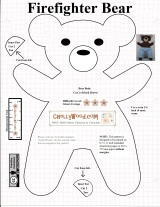 Free #teddybear #plush #toy pattern @ ChellyWood.com