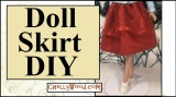 #Sew a Skirt for #Dolls w/this #DIY tutorial @ ChellyWood.com