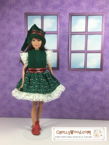 Click here for all the patterns and tutorials you'll need to create this outfit: https://chellywood.com/2017/12/21/free-skipper-dolls-clothes-patterns-chellywood-com/