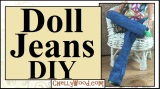 Let's #Sew a Pair of #Jeans for #Dolls!