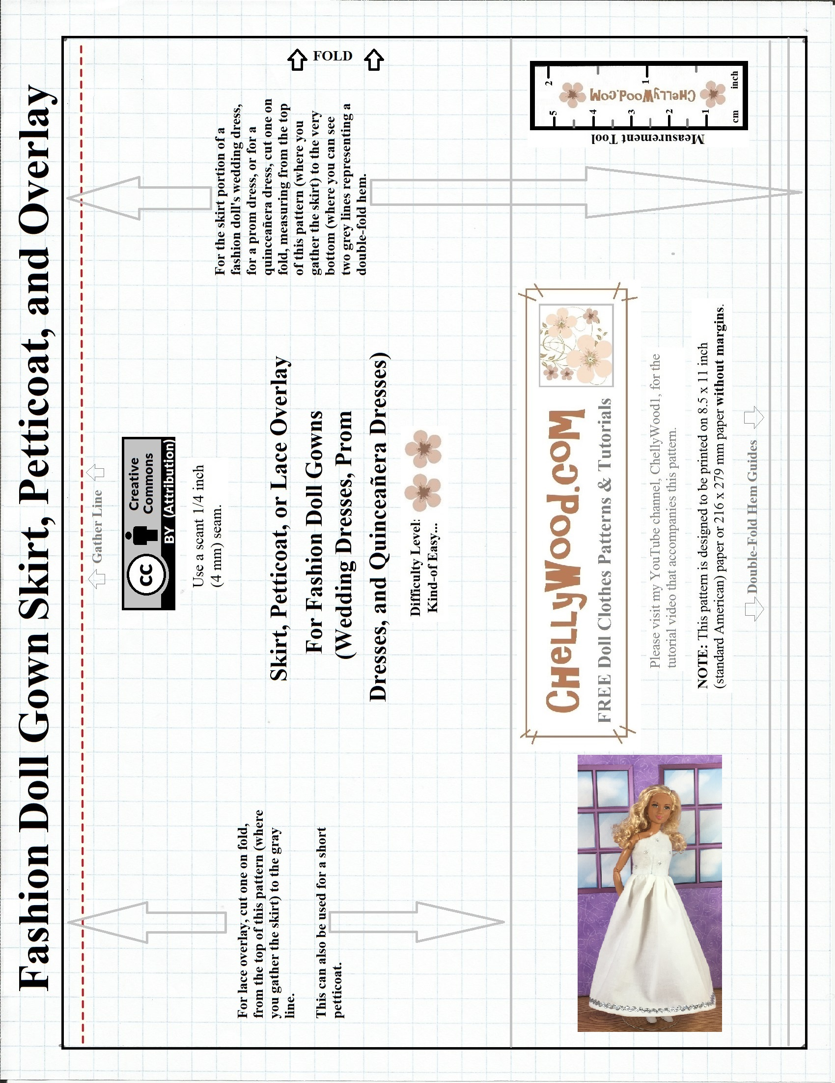 Sewing Guides Vintage Machine Threading Stitch Nerd Image Shows A Free Printable Pattern For Fashion Doll Wedding Gown Skirt 551x714
