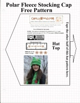 FREE Printable #Sewing Patterns for #Tuque or #Beanie (Stocking Cap)
