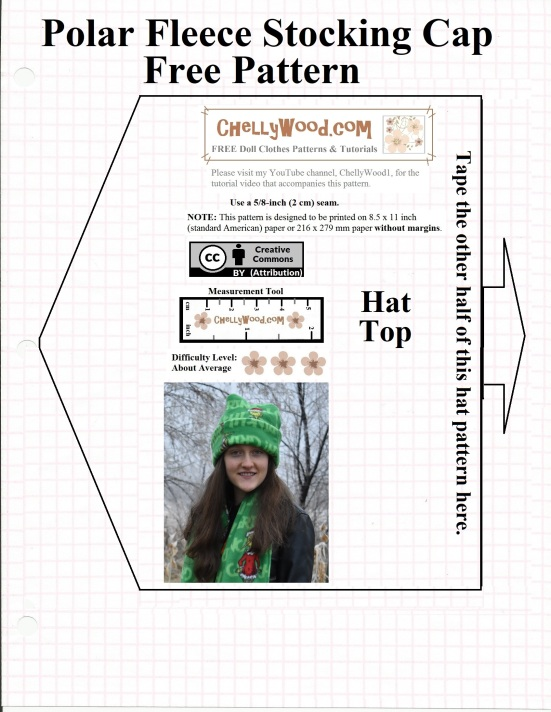 FREE Printable #Sewing Patterns for #Tuque or #Beanie (Stocking Cap ...